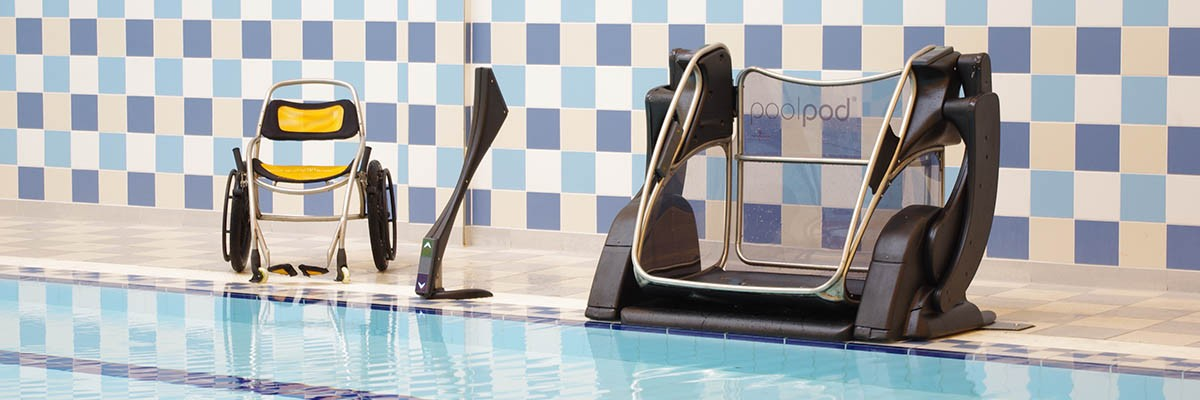 EASY ACCESS TO THERAPY POOL WITH POOLPOD